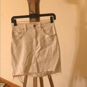 Wilfred Free White Cotton Mini Skirt